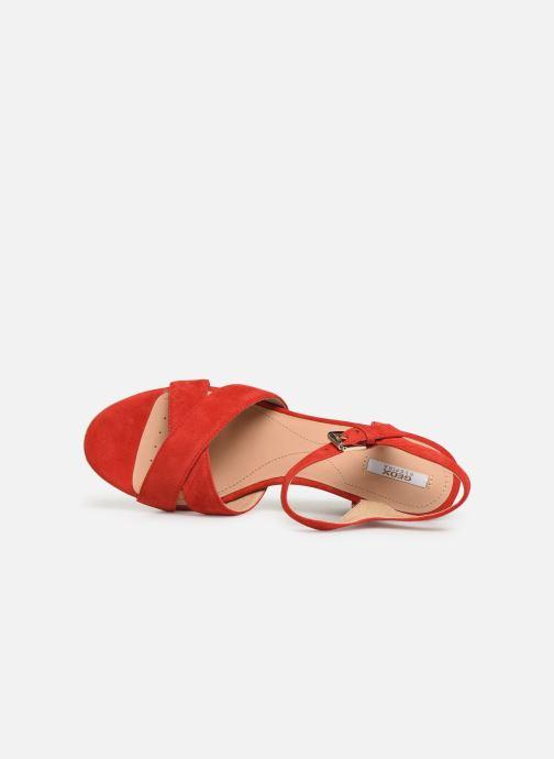 Sandalias Geox D SOLEIL A D92N7A Rojo vista lateral izquierda
