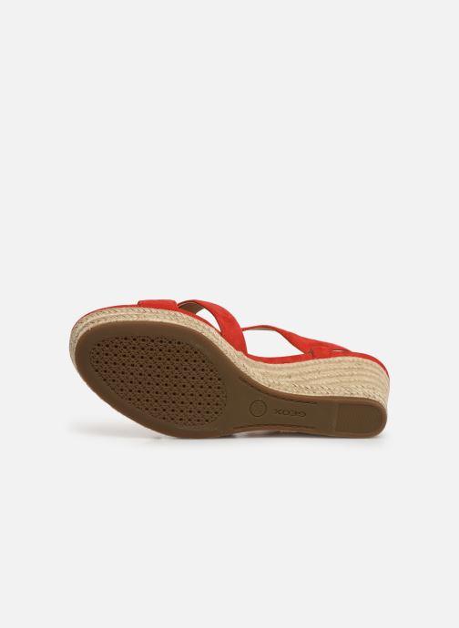 Sandales et nu-pieds Geox D SOLEIL A D92N7A Rouge vue haut