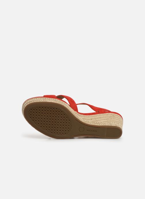 Sandali e scarpe aperte Geox D SOLEIL A D92N7A Rosso immagine dall'alto
