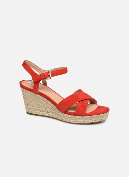 Sandali e scarpe aperte Geox D SOLEIL A D92N7A Rosso vedi dettaglio/paio