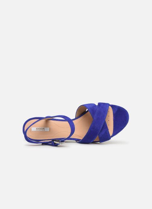 Sandales et nu-pieds Geox D SOLEIL A D92N7A Bleu vue gauche