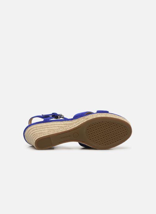 Sandales et nu-pieds Geox D SOLEIL A D92N7A Bleu vue haut