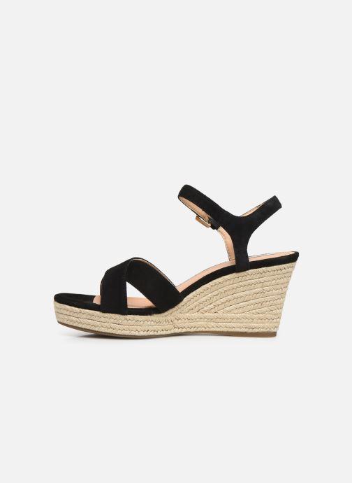 Sandales et nu-pieds Geox D SOLEIL A D92N7A Noir vue face