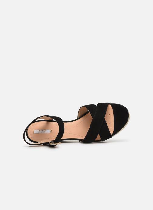 Sandales et nu-pieds Geox D SOLEIL A D92N7A Noir vue gauche