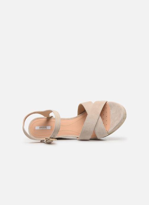Sandales et nu-pieds Geox D SOLEIL A D92N7A Beige vue gauche