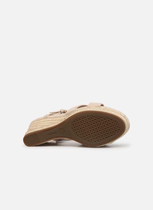 Sandales et nu-pieds Geox D SOLEIL A D92N7A Beige vue haut