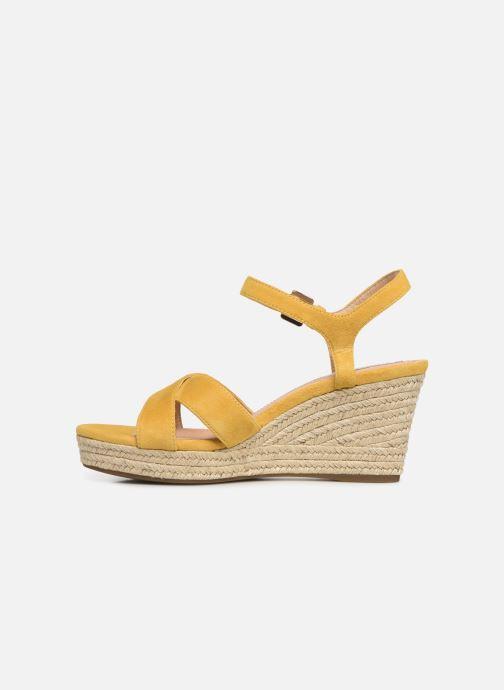 Sandales et nu-pieds Geox D SOLEIL A D92N7A Jaune vue face