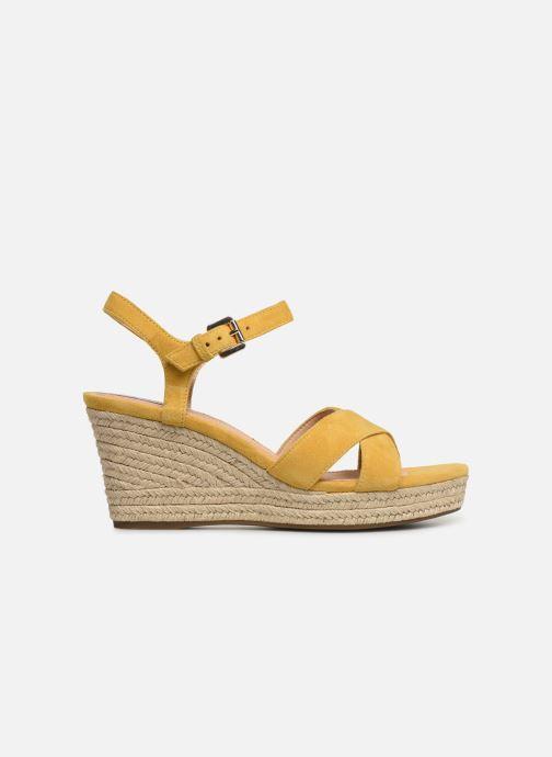 Sandales et nu-pieds Geox D SOLEIL A D92N7A Jaune vue derrière