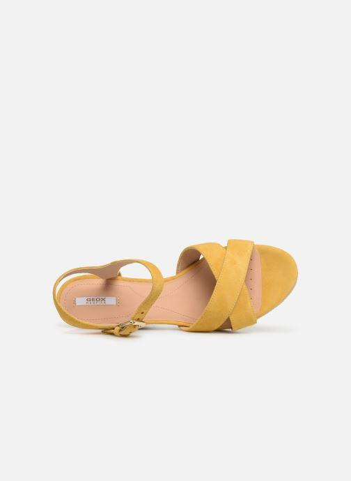 Sandales et nu-pieds Geox D SOLEIL A D92N7A Jaune vue gauche