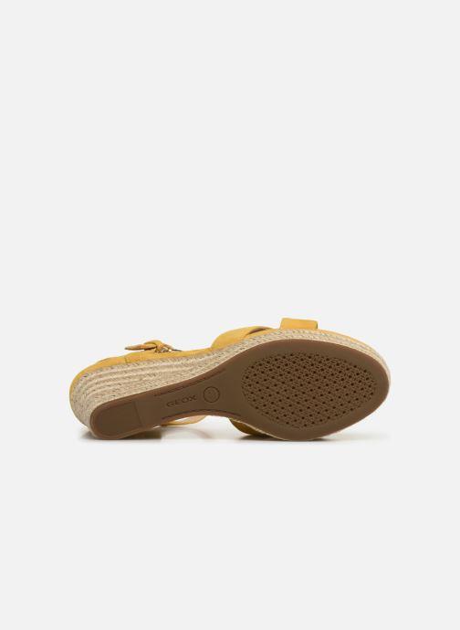 Sandales et nu-pieds Geox D SOLEIL A D92N7A Jaune vue haut