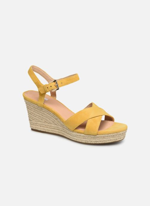 Sandales et nu-pieds Geox D SOLEIL A D92N7A Jaune vue détail/paire