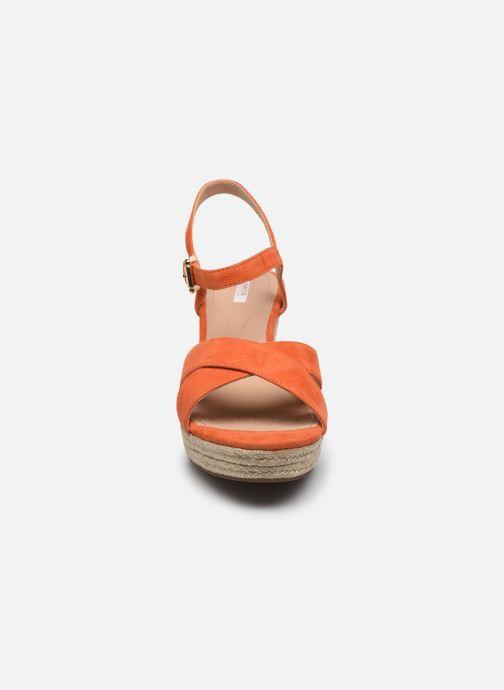 Sandales et nu-pieds Geox D SOLEIL A D92N7A Orange vue portées chaussures