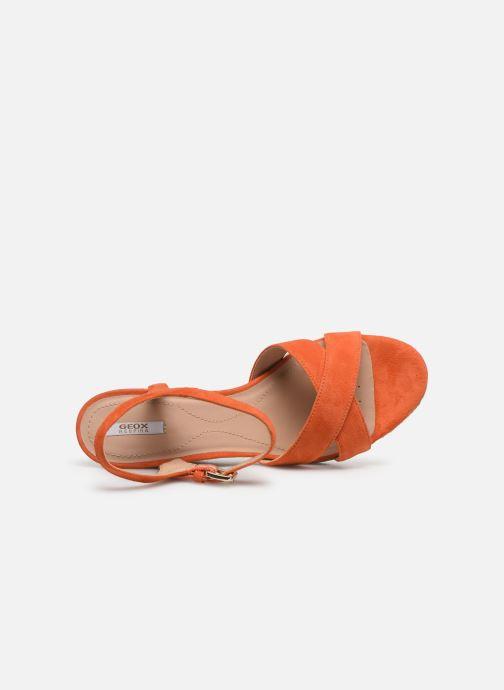 Sandales et nu-pieds Geox D SOLEIL A D92N7A Orange vue gauche