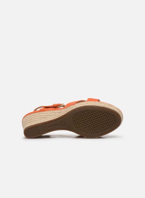 Sandales et nu-pieds Geox D SOLEIL A D92N7A Orange vue haut