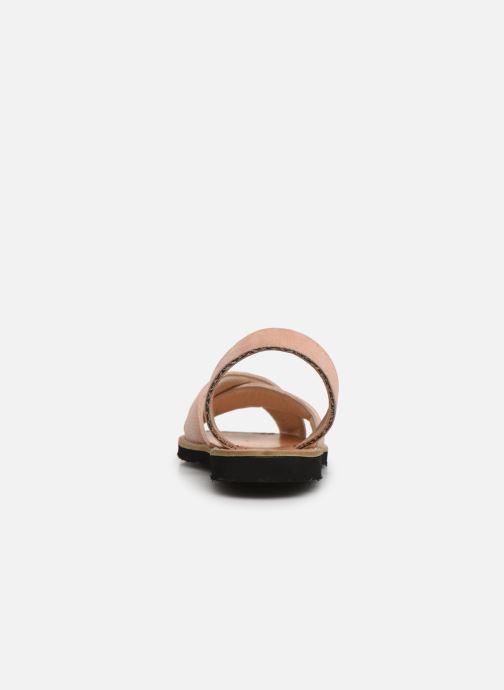 Sandales et nu-pieds MINORQUINES Avarca Berlin Rose vue droite