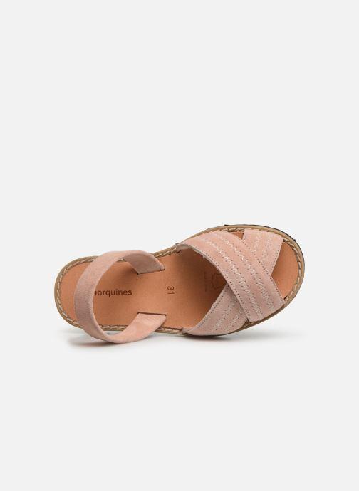 Sandales et nu-pieds MINORQUINES Avarca Berlin Rose vue gauche