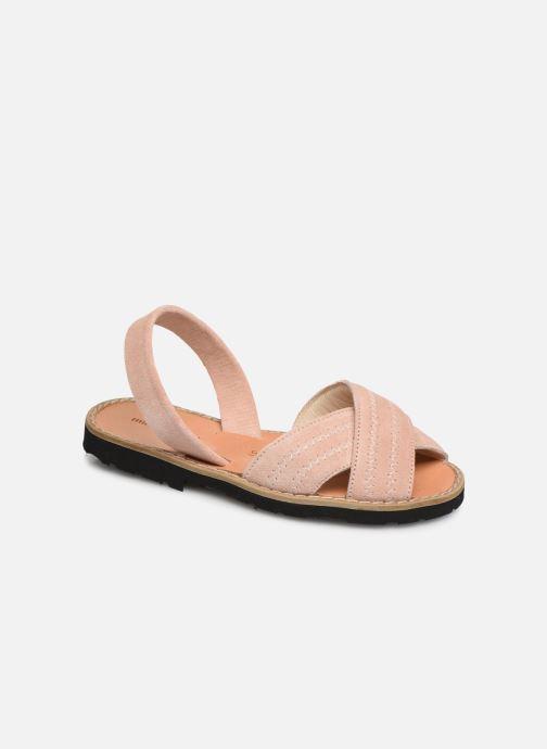 Sandales et nu-pieds MINORQUINES Avarca Berlin Rose vue détail/paire
