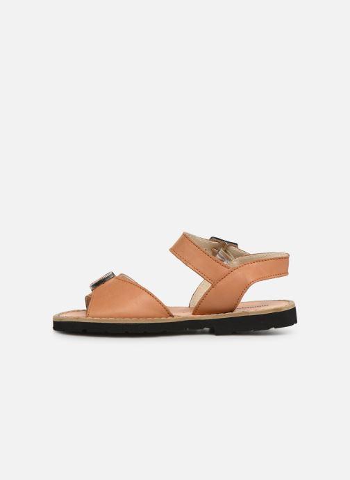 Sandali e scarpe aperte Minorquines Avarca Boucle Marrone immagine frontale