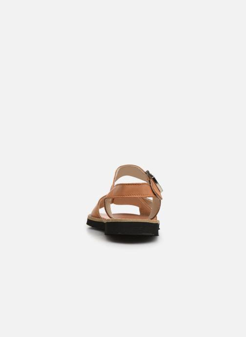 Sandali e scarpe aperte Minorquines Avarca Boucle Marrone immagine destra