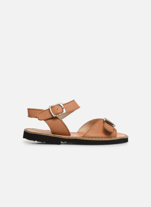 Sandales et nu-pieds Minorquines Avarca Boucle Marron vue derrière