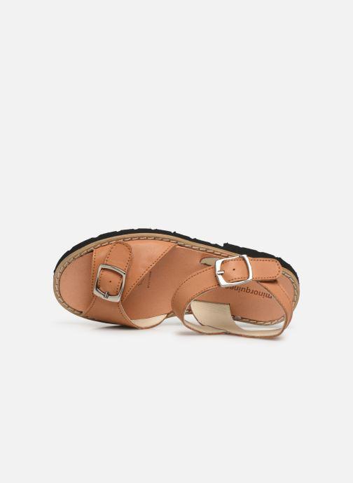 Sandali e scarpe aperte Minorquines Avarca Boucle Marrone immagine sinistra