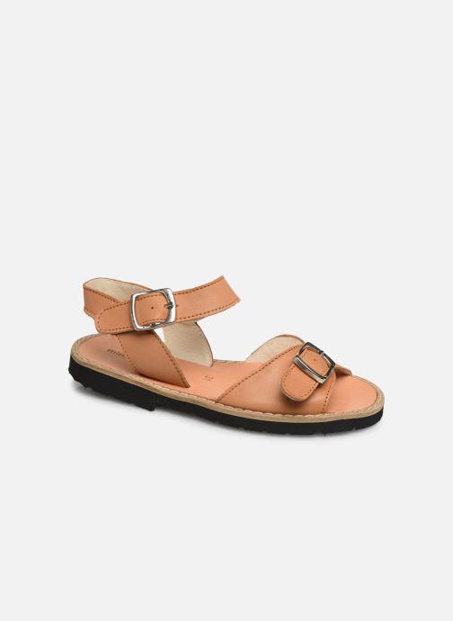 Sandales et nu-pieds Minorquines Avarca Boucle Marron vue détail/paire