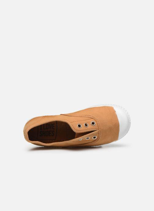 Sneaker I Love Shoes BINTA braun ansicht von links