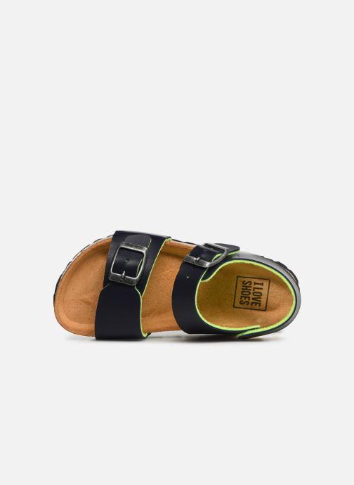 Sandalias I Love Shoes Borini Azul vista lateral izquierda