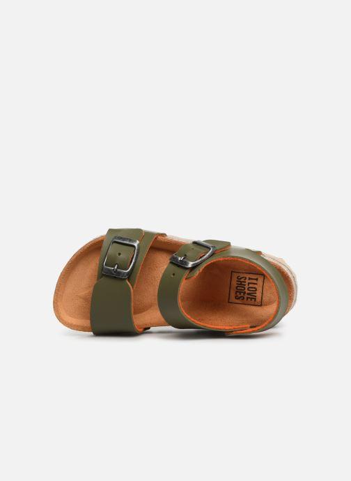 Sandalias I Love Shoes Borini Verde vista lateral izquierda