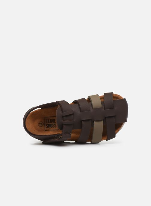 Sandalias I Love Shoes Boliver Marrón vista lateral izquierda