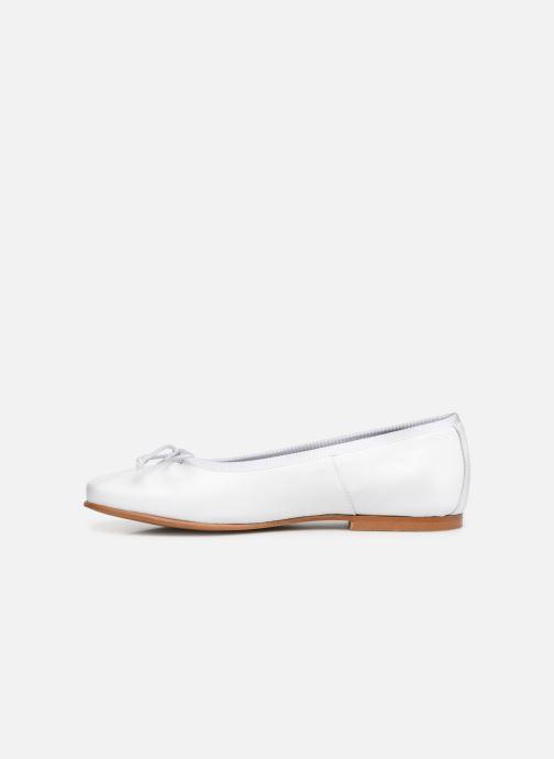 Ballerines I Love Shoes Boreli Leather Blanc vue face