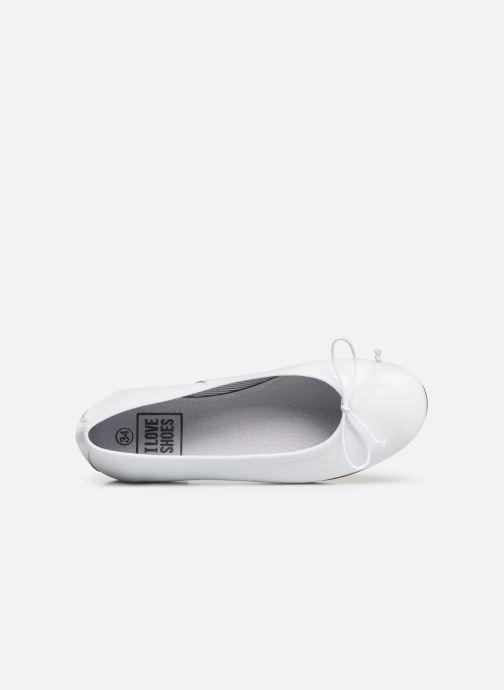 Ballerines I Love Shoes Boreli Leather Blanc vue gauche