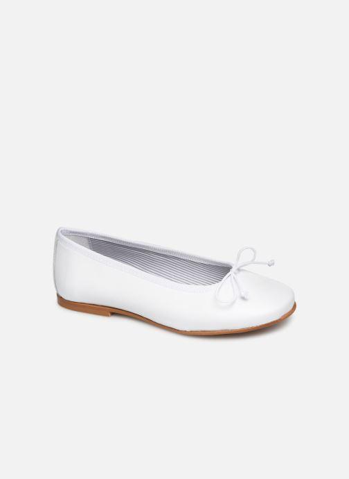 Ballerines I Love Shoes Boreli Leather Blanc vue détail/paire