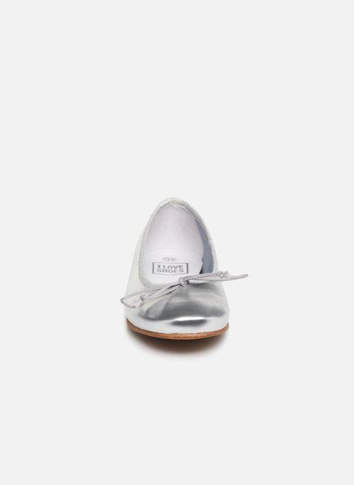Bailarinas I Love Shoes Boreli Leather Plateado vista del modelo
