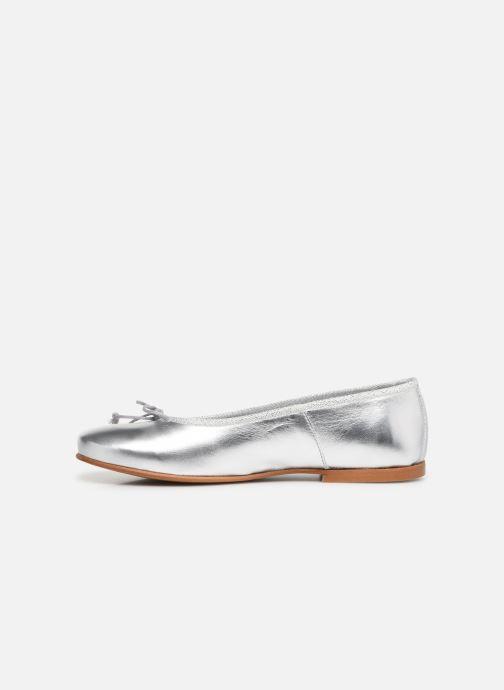 Bailarinas I Love Shoes Boreli Leather Plateado vista de frente