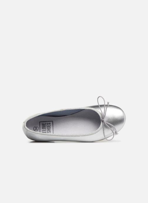 Ballerinas I Love Shoes Boreli Leather silber ansicht von links