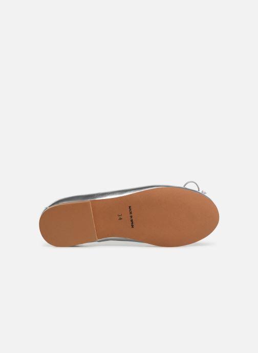 Bailarinas I Love Shoes Boreli Leather Plateado vista de arriba
