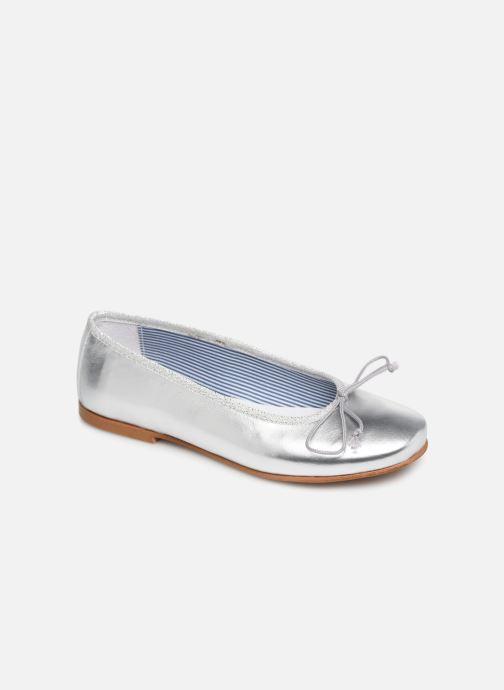 Ballerines I Love Shoes Boreli Leather Argent vue détail/paire