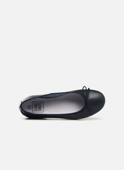 Ballerines I Love Shoes Boreli Leather Bleu vue gauche