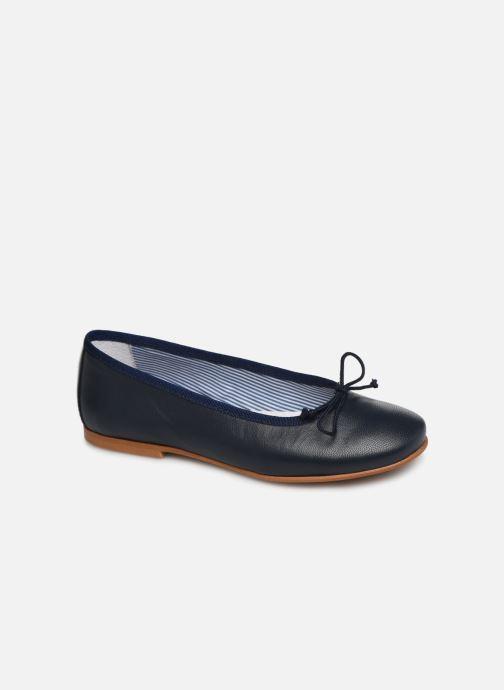 Ballerines I Love Shoes Boreli Leather Bleu vue détail/paire