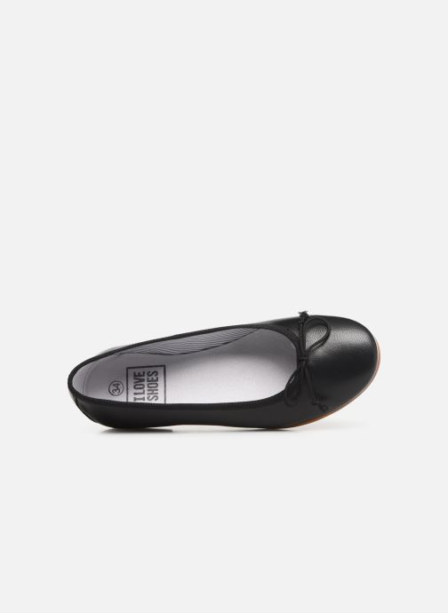 Ballerines I Love Shoes Boreli Leather Noir vue gauche