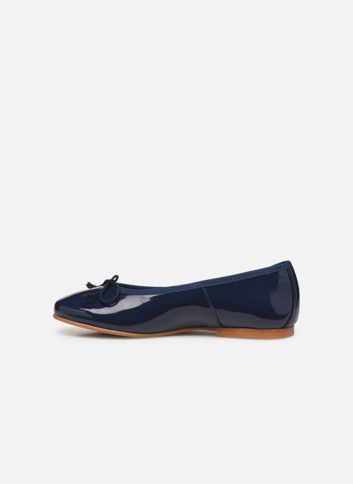 Bailarinas I Love Shoes Boreli Leather Azul vista de frente
