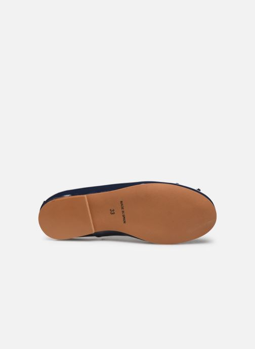 Ballet pumps I Love Shoes Boreli Leather Blue view from above