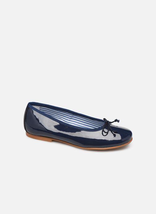 Ballerinaer I Love Shoes Boreli Leather Blå detaljeret billede af skoene
