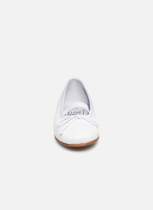 Ballerines I Love Shoes Borelina Leather Blanc vue portées chaussures