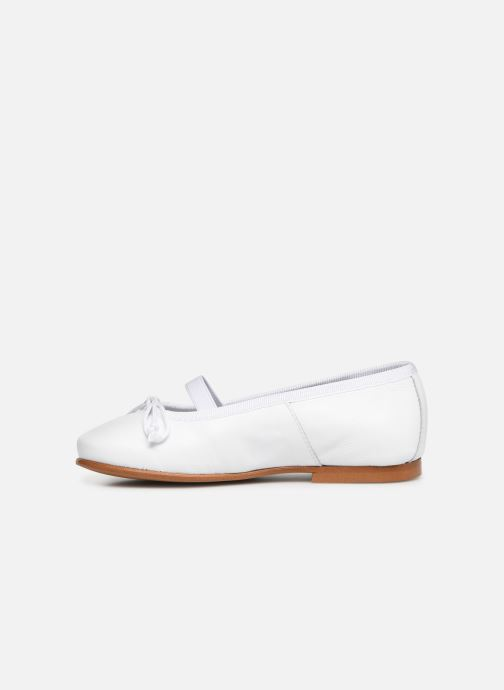 Ballerines I Love Shoes Borelina Leather Blanc vue face