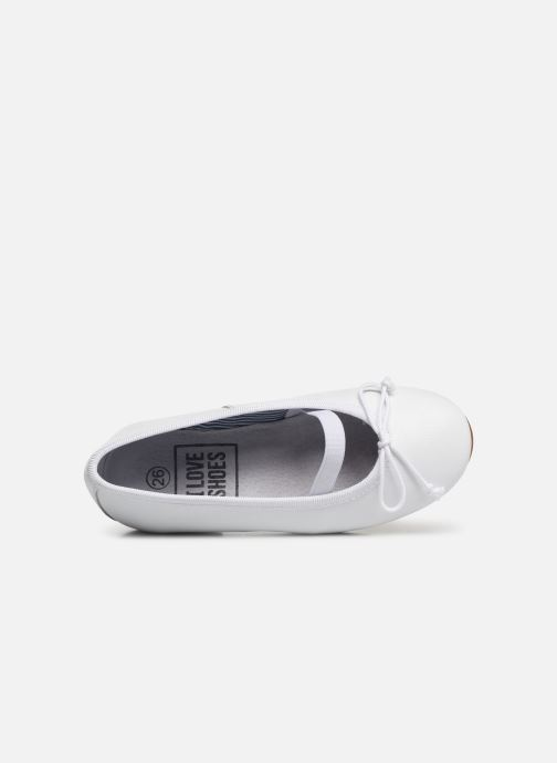 Ballerines I Love Shoes Borelina Leather Blanc vue gauche