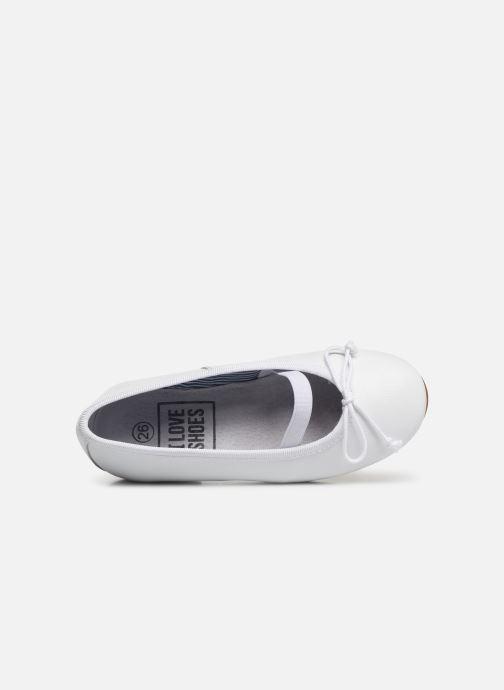 Ballerines I Love Shoes Borelina Leather Blanc vue gauche
