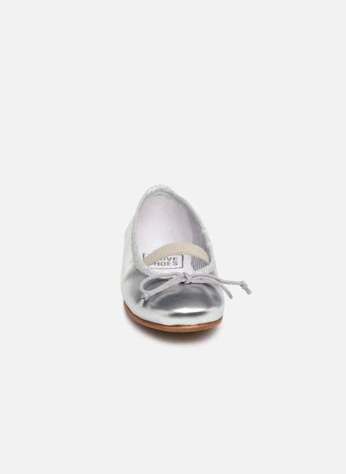 Ballerines I Love Shoes Borelina Leather Argent vue portées chaussures