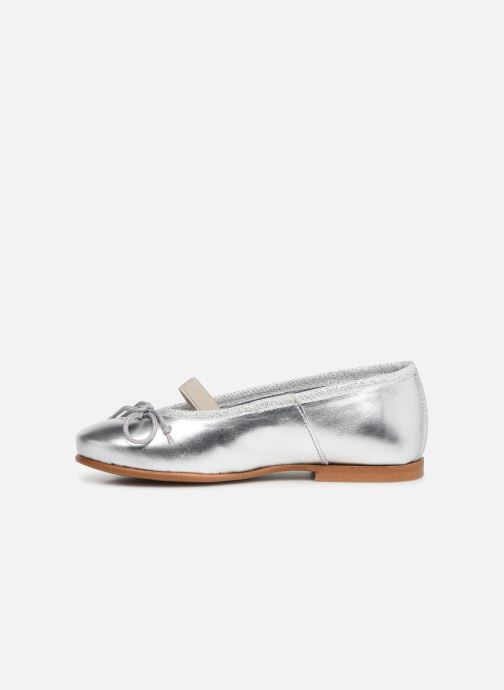 Ballerines I Love Shoes Borelina Leather Argent vue face